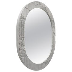 Shale Mirror in Grey by Simon Johns