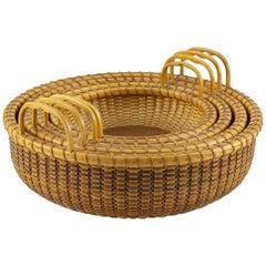 Shallow Nest of Nantucket Lightship Baskets