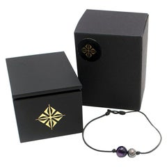 Shamballa Jewels Amethyst and Diamond Star of Shamballa Orb Bracelet
