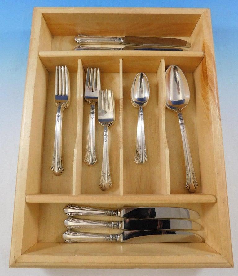 Shamrock v by Gorham Sterling Silver Flatware Service Set 26 Pieces For Sale 1