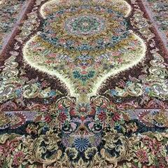 Shams Gold - Master Novinfar Hand Knotted Persian Tabriz Rug/Carpet