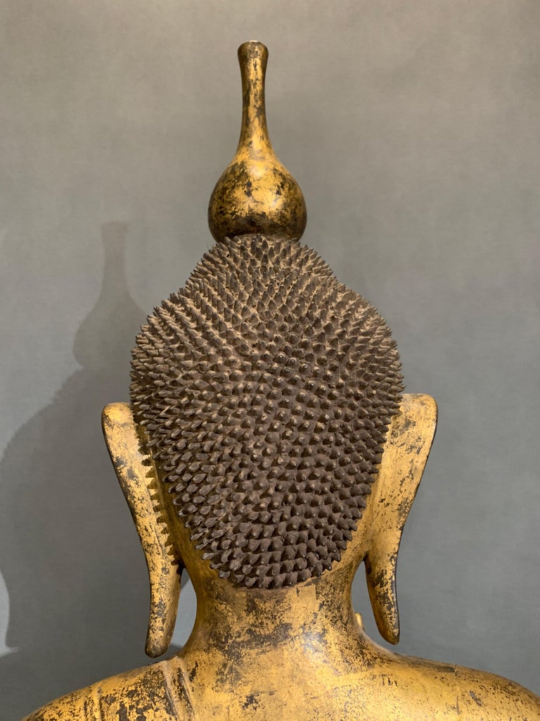 Shan Burmese Carved and Giltwood Standing Buddha, Early 20th Century 6