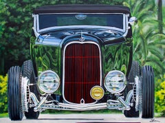 """""""1939 Ford Hi Boy Roadster,"""" Acrylic painting"""