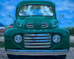 """""""1949 Ford F1 Truck,"""" Acrylic painting"""