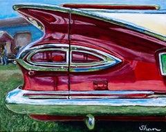 """""""1959 Chevrolet El Camino,"""" Acrylic painting"""