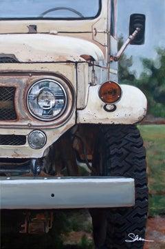 """""""1965 Land Cruiser FJ40,"""" Acrylic painting"""