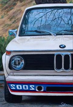 """1974 BMW 2002,"" Acrylic painting"