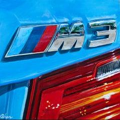 """""""2016 Yas Marina BMW M3,"""" Acrylic painting"""