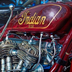 """""""1930 Indian Scout 101,"""" Limited Edition Giclée Print (25/9)"""