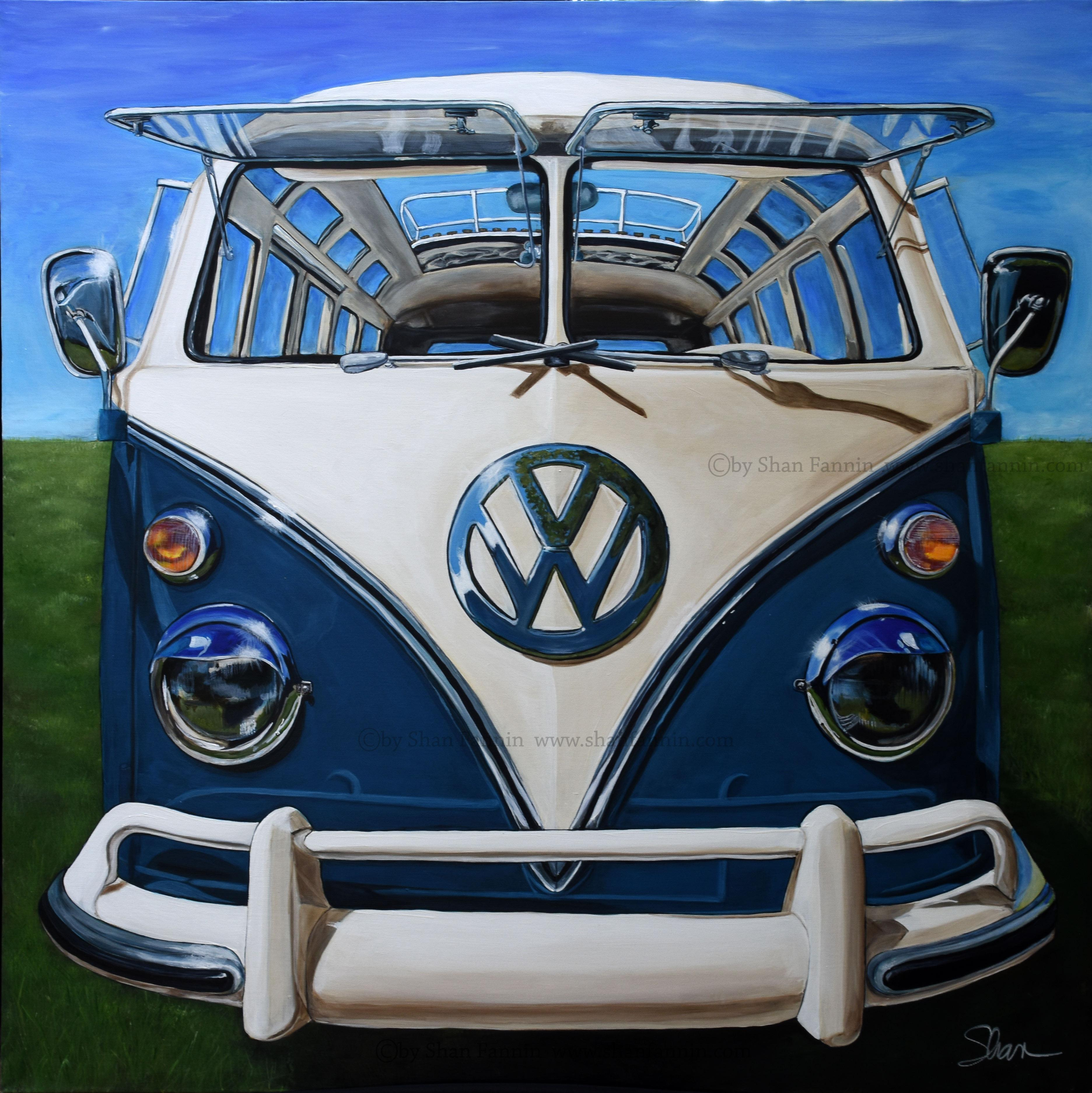 """1967 Volkswagen Samba/Kombi Bus,"" Limited Edition Giclée Print (25/13)"