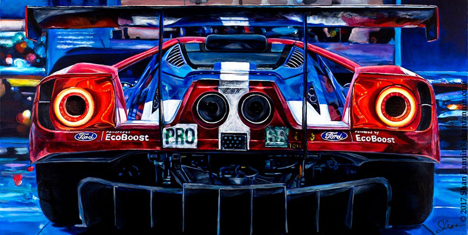 """""""2016 Ford GT #68"""" Limited Edition Giclée Print (25/14)"""