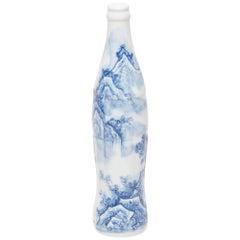 """Shan Shui"" Blue and White Cola Bottle by Taikkun Li"