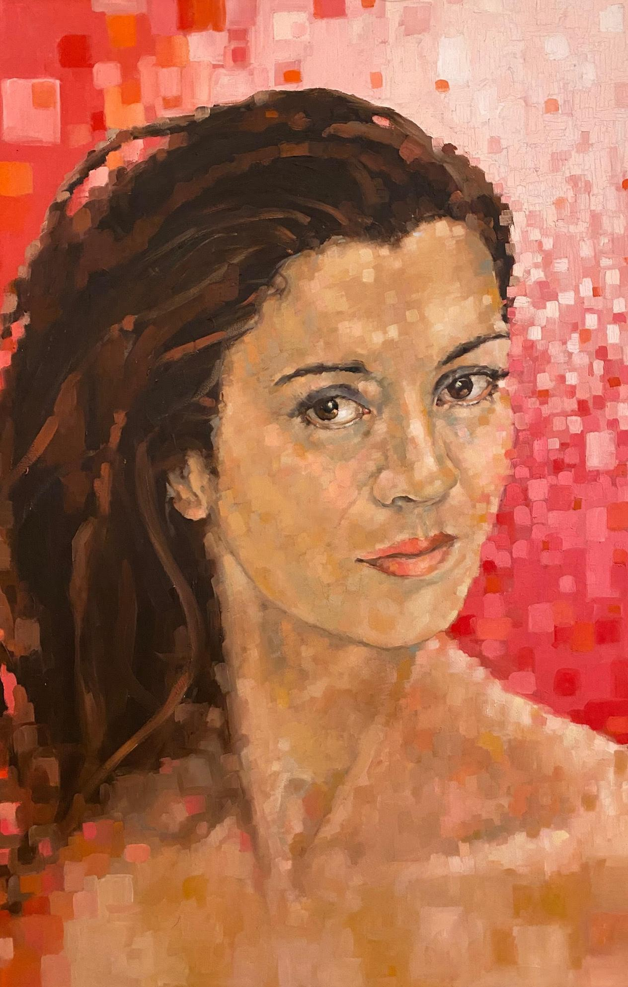 """Dina"" oil on board 34.5"" x 47"" by Shana Wilson"