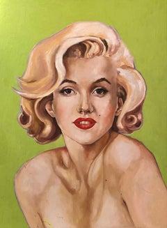 """""""Marilyn Monroe"""" oil on board Portrait by Shana Wilson"""