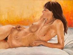 """Reclining Nude"" oil on canvas by Shana Wilson"