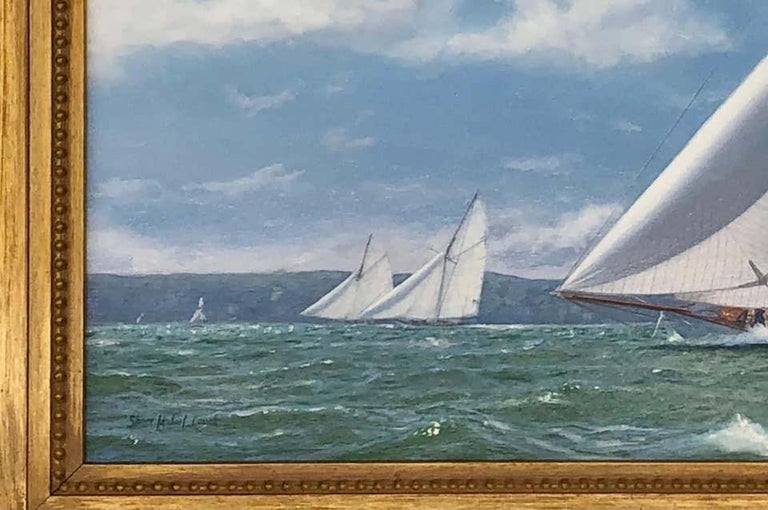 New York Yacht Club Race, 1893 - Painting by Shane Michael Couch
