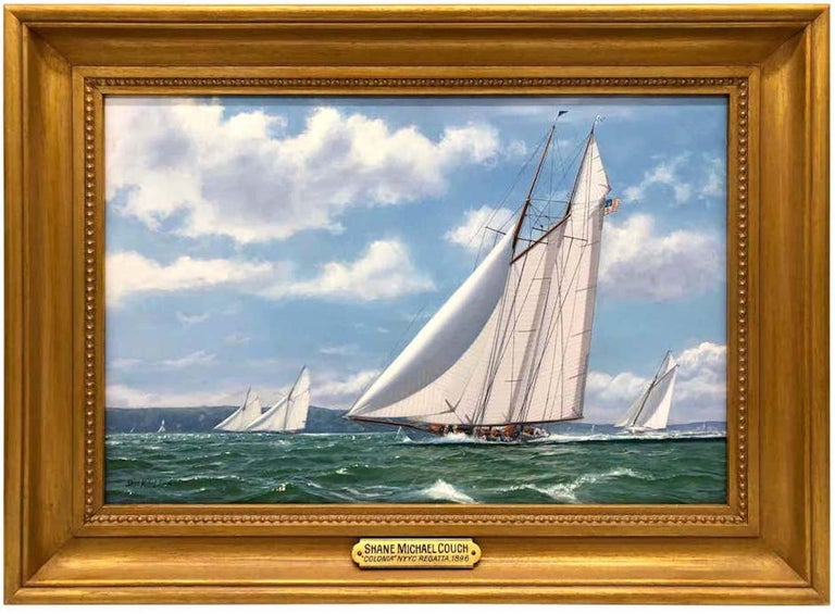 Shane Michael Couch Landscape Painting - New York Yacht Club Race, 1893
