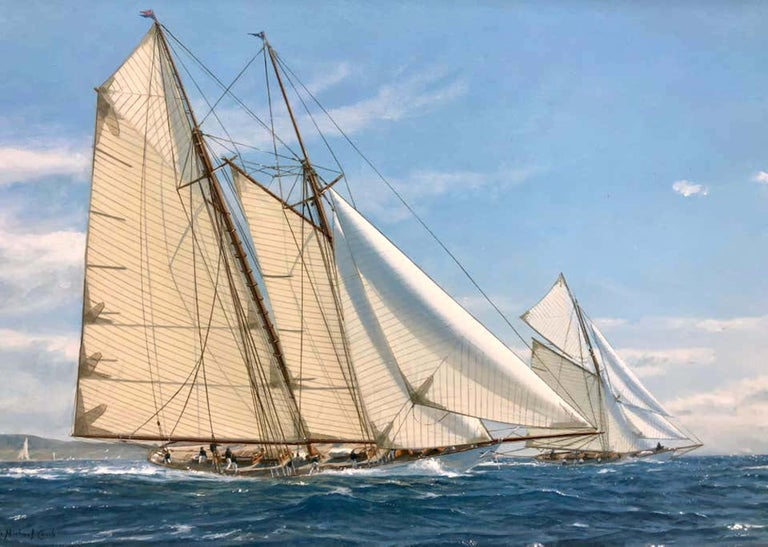 Yachts Racing off Newport, 1911 - Painting by Shane Michael Couch