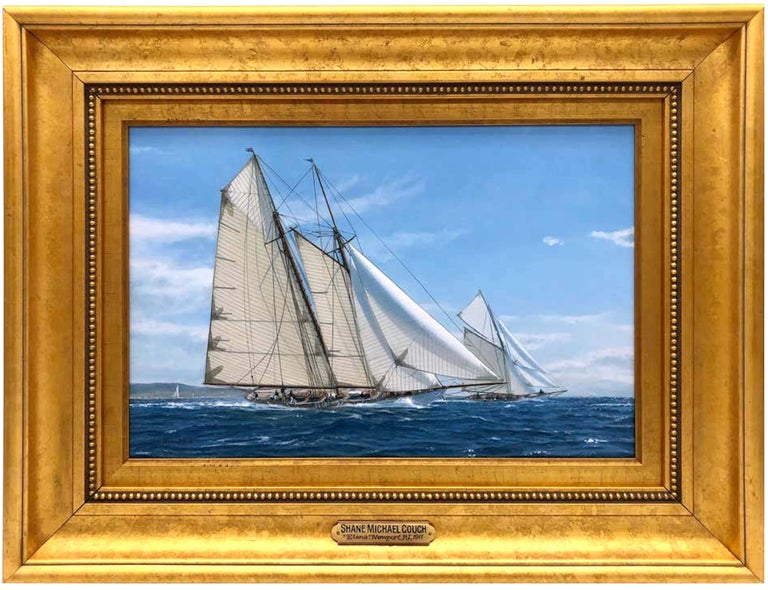 Shane Michael Couch Landscape Painting - Yachts Racing off Newport, 1911