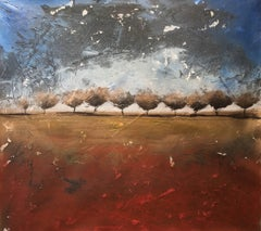 """Back To Beginning"" Acrylic Mid Century Modern Landscape by Shane Townley"