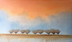 """""""Blessed"""" Oil Painting Contemporary MidCentury Modern Landscape by Shane Townley"""
