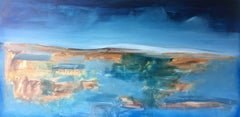 """""""Forward"""" Oil Painting Contemporary MidCentury Modern Landscape by Shane Townley"""