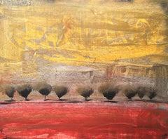 """Jesly Waits"" Acrylic Mid Century Modern Landscape by Shane Townley"