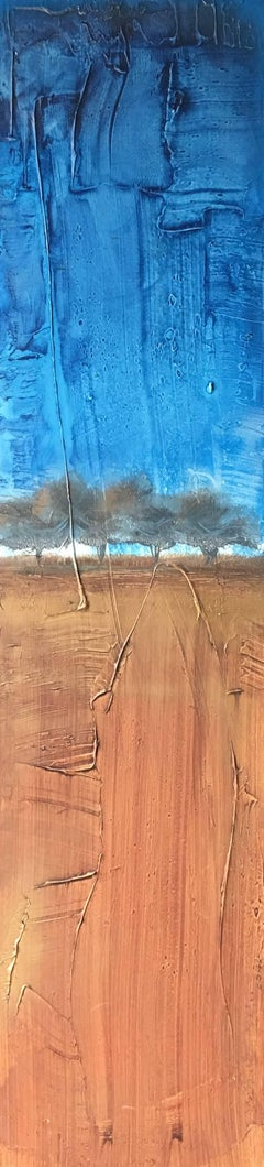 """""""Life Has Layers"""" Acrylic Texture Mid Century Modern Landscape by Shane Townley"""