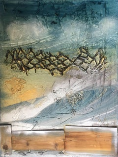 """""""My Ocean"""" Mixed Media Mid century modern Contemporary Style by Shane Townley"""
