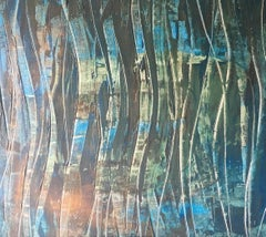 """""""Ocean"""" Acrylic Mid century modern Contemporary Style by Shane Townley"""