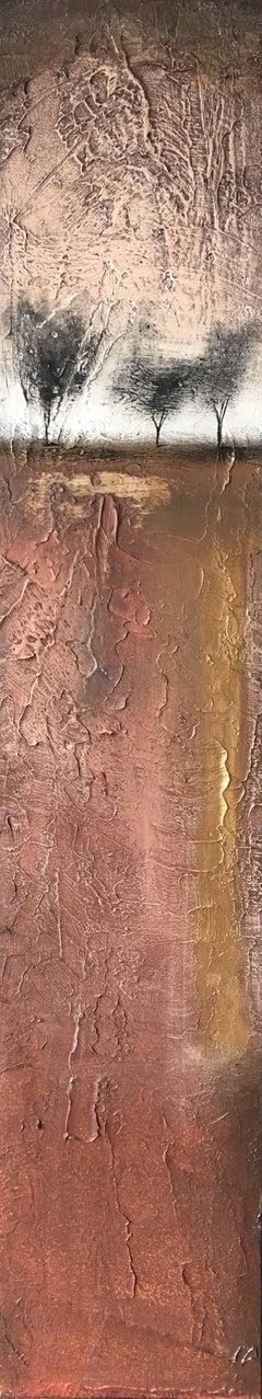 """Simplistic World"" Acrylic Texture Mid Century Modern Landscape by Shane Townley"