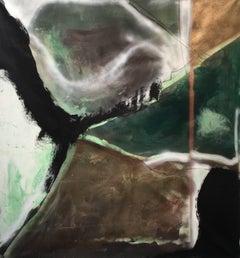 """Walk on"" Acrylic on Canvas Mid century modern Contemporary Style, Shane Townley"