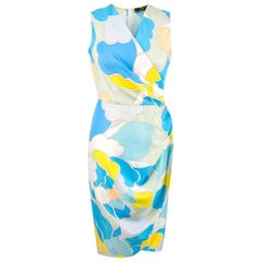 Shanghai Tang Peony Pop Silk Dress - Size US 4