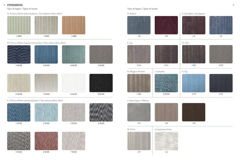 Italian Shanti II Luxury Cabinet in Fabric Effect Wood, Jewel Handels, Made in Italy For Sale