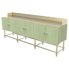 Shanti II Luxury Cabinet in Fabric Effect Wood, Jewel Handels, Made in Italy