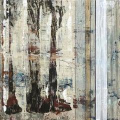 """""""Piano Joint"""", abstract, acrylic painting, graphite, browns, rusts, creams"""