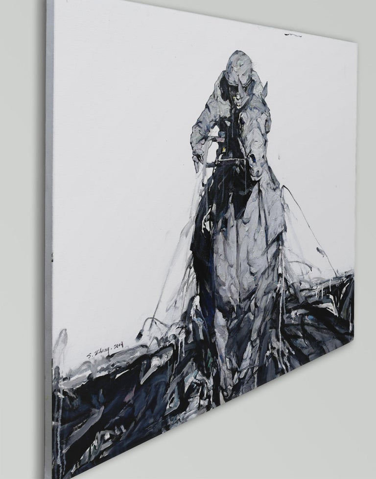 Thunder, Oil Painting - Contemporary Art by Shao Yuan Zhang