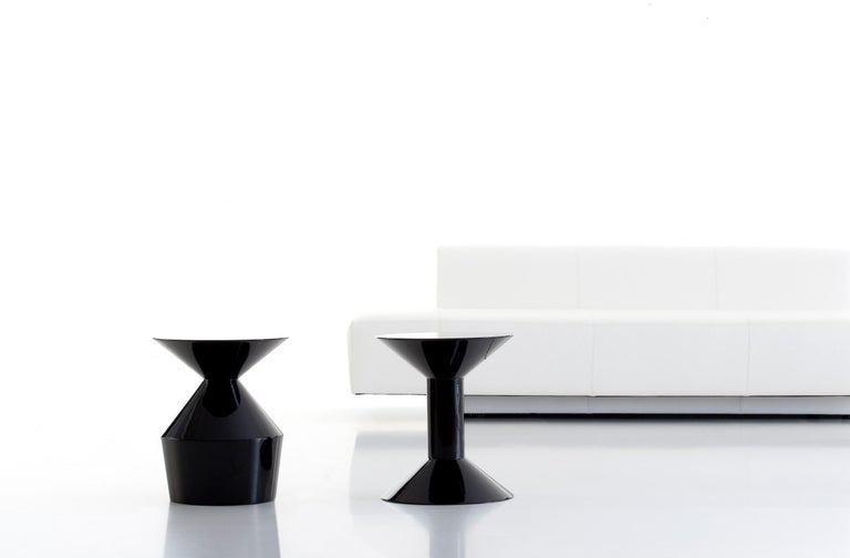 Minimalist Viccarbe  Shape Low Table H, Black Matt Finish by Jorge Pensi For Sale