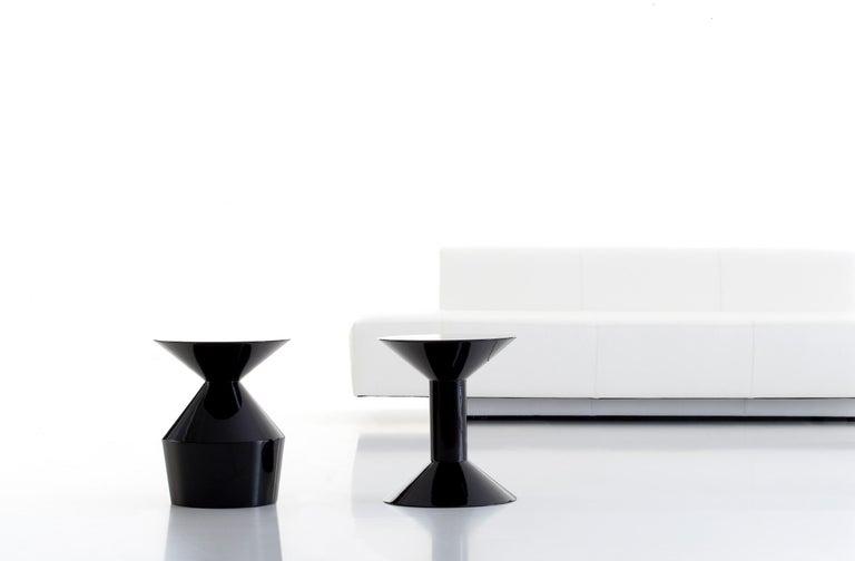 Spanish Viccarbe  Shape Low Table O, Black Matt Finish by Jorge Pensi For Sale