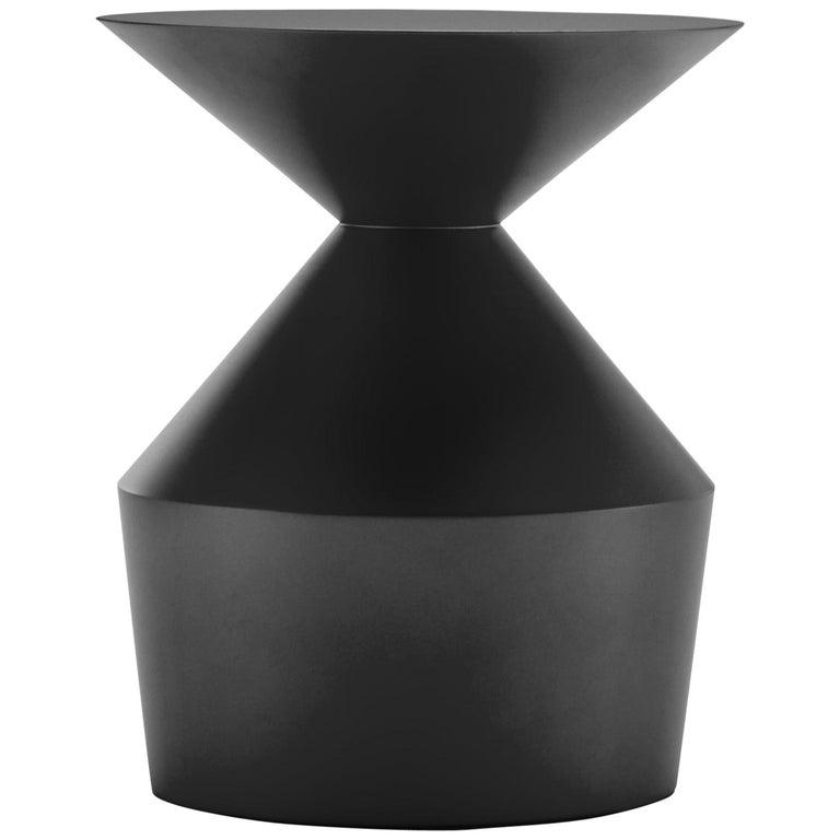 Viccarbe  Shape Low Table O, Black Matt Finish by Jorge Pensi For Sale