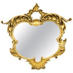 Shaped Gilt Rococo Mirror
