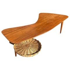 Shaped Maple Table Designed by Taichiro Nakai for La Permanente Cantù, 1950s