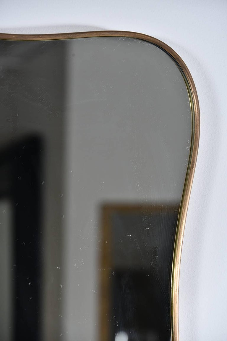 Shapely Vintage Italian Mirror In Good Condition For Sale In Houston, TX
