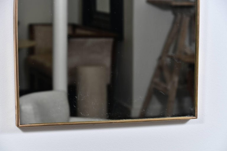 Mid-20th Century Shapely Vintage Italian Mirror For Sale