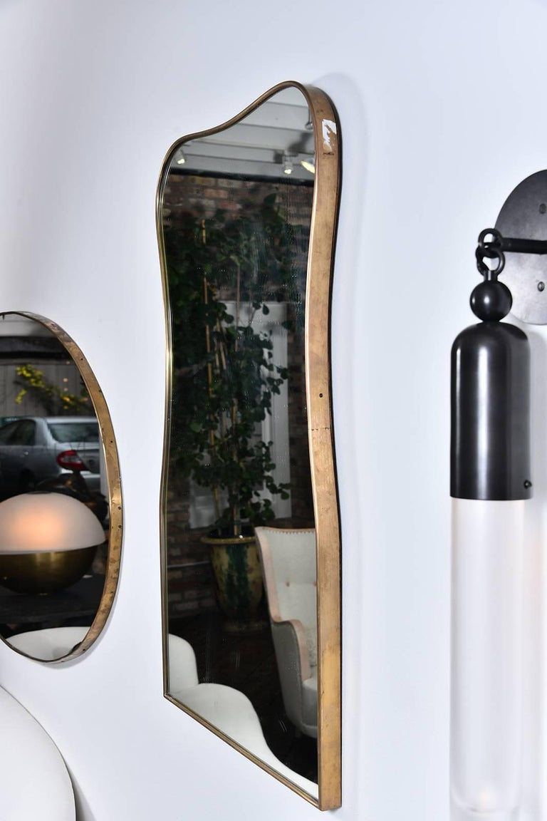 Shapely Vintage Italian Mirror For Sale 1
