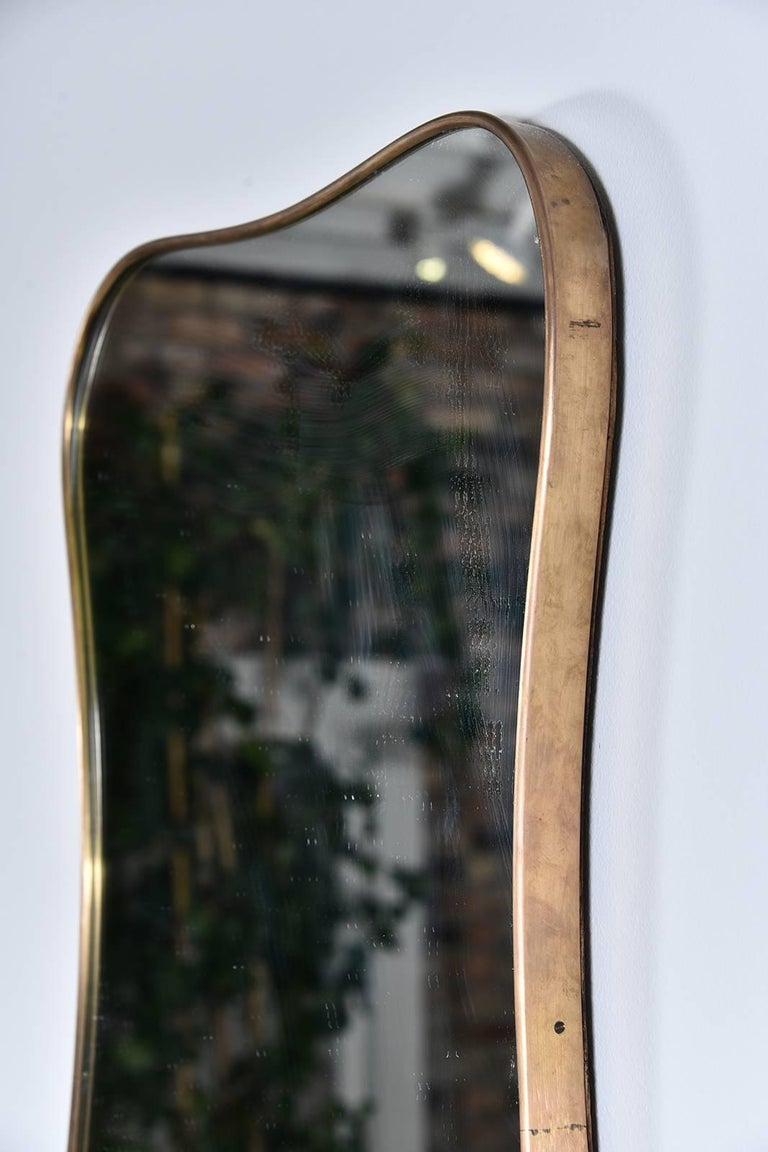Shapely Vintage Italian Mirror For Sale 3