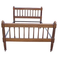Shapland & Petter, Arts & Crafts Oak Double Bed with Acorn Tops to Each Corner
