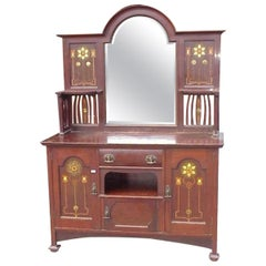 Shapland & Petter Extremely Rare Arts & Crafts Mahogany Inlaid Dining Room Suite