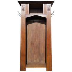 Shapland & Petter, Style of MH Baillie Scott, an Arts & Crafts Oak Hall Cupboard