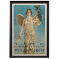 """Share in the Victory"" WWI Vintage Poster by Haskell Coffin"